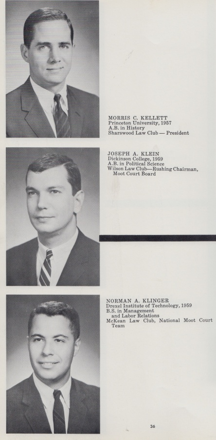 Law school yearbook.