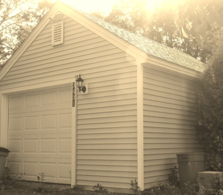 Although it has since been remodeled, the garage where Blacky died still stands.