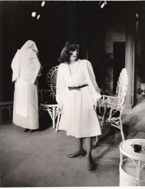 Nancy Caronia as Catharine and Kim Grethen as the nun in Tennessee Williams' Suddenly, Last Summer.