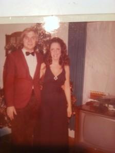 the author's parents, 1970