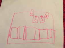 "The Editor's 5 yr old draws her school's ""pink room."""