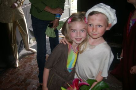 Silver attending Maisy's play in  2012.