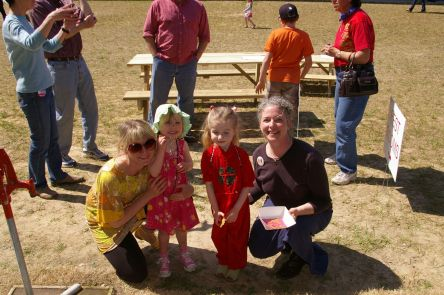 Amanda, Maisy, Silver and Leslie at Greenville Montessori's Multicultural Fair in 2010.