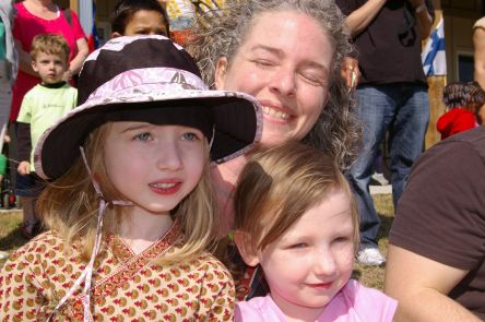 Silver, Leslie and Maisy at the Greenville Montessori Multicultural Fair 2011.