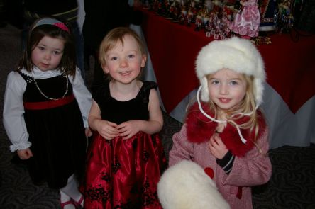Maisy and Silver and Stella at a performance of the Nutcracker in 2009.
