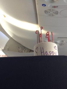 The toilet paper birthday cake.