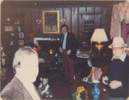 Christmas Eve in the old Tudor house, circa 1981